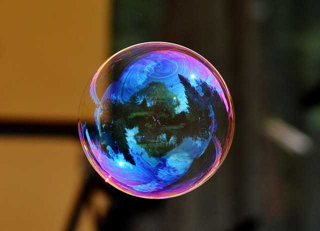 bubble with beautiful surface
